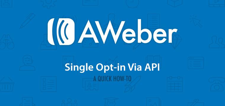 aweber single opt-in