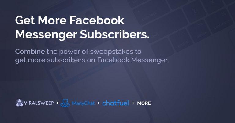 get more facebook messenger subscribers