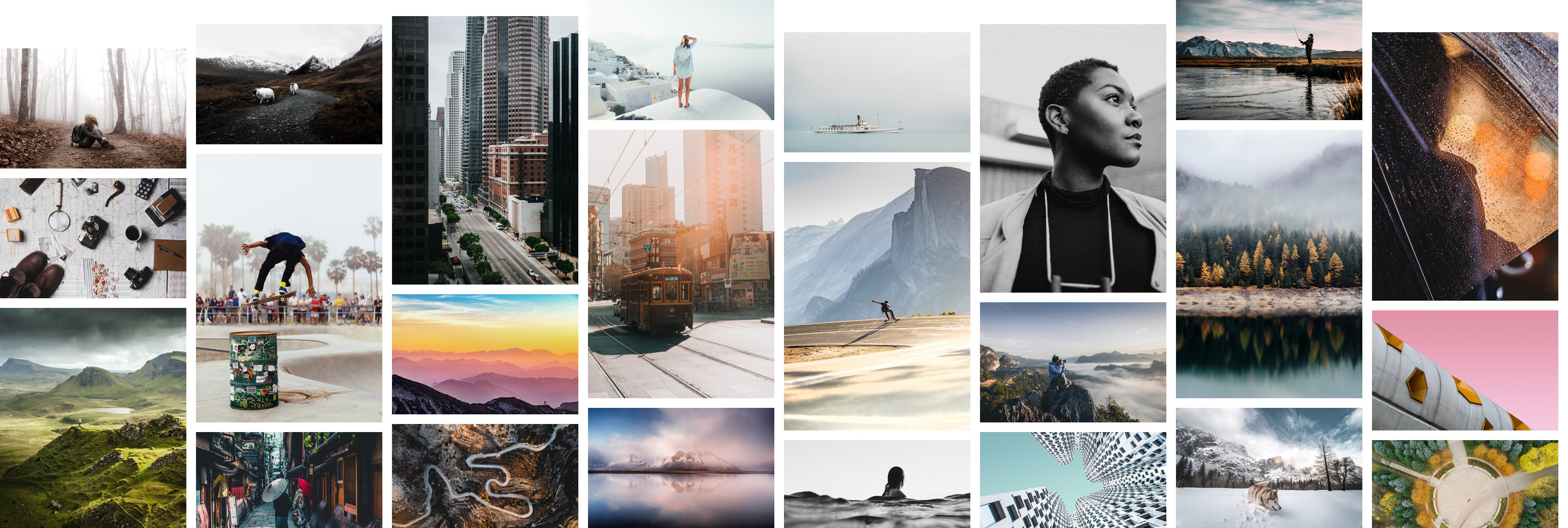 unsplash grid